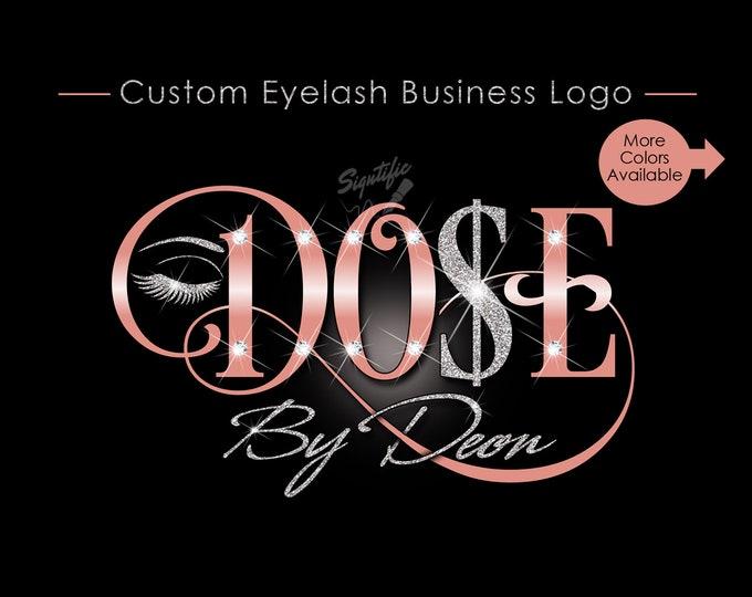Eyelash Business Logo, Custom Eyelash Logo, Makeup Artistry Logo, Lashes Logo, Glitter Salon Logo, Business Logo, Bling Logo, Logo Custom