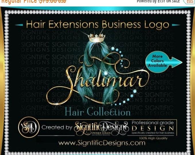 Hair Extensions Logo, Hair Brand Logo, Hair Logo, Bling Hair Brand, Diamonds Hair Logo, Hair Tresses Logo, Logo Revamp, Logo Update, Logo