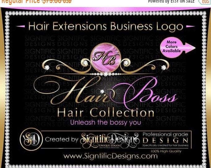 Hair Extensions Logo, Hair Business Logo, Diamond Logo, Hair Logo, Bling Logo, Hair Brand Logo, Virgin Hair Logo, Hair Tag Logo, Branding