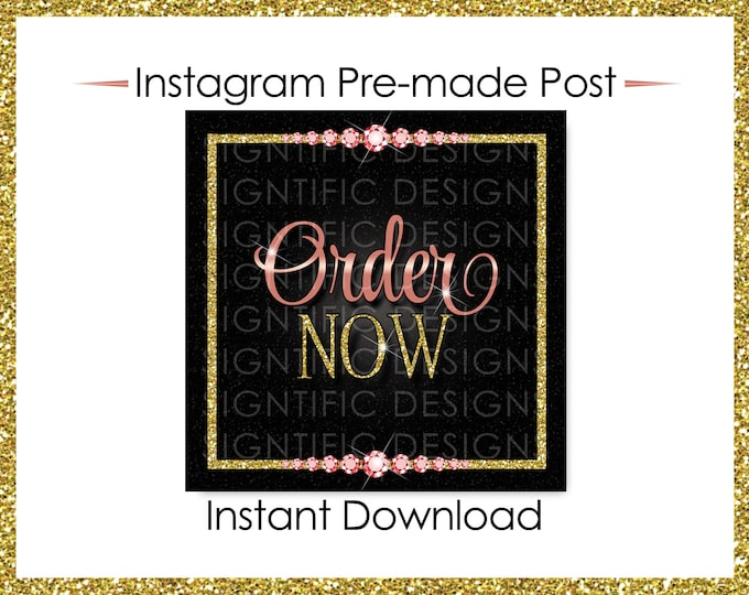 Instant Download, Order Now, Hair Business Flyer, Instagram Post, Gold Rose Gold Flyer, Digital Online Flyer, Bundle Glitter Flyer