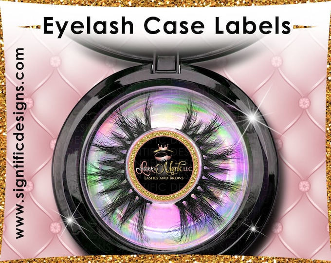 Eyelash Case Stickers, Lash Labels, Eyelash Box Labels, Lash Stickers, Lash Round labeling, Lash Packaging Label, Lash Extension Labels