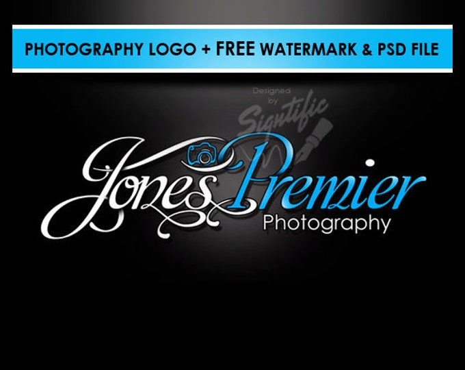 Photography camera logo, free watermark and PSD source file, custom photo signature, professional logo, business logo, camera logo design
