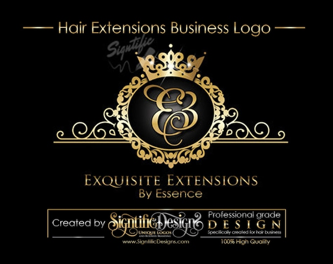 Virgin Hair logo design, Hair Extensions Logo, Hair Business Logo, Hair Tag Logo, Hang Tag Logo Design, Logo with frame, Packaging Logo