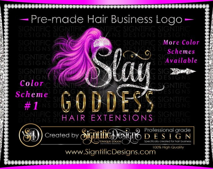 Hair Extensions Logo, Hair Bundle Logo, Hair Business Logo, Hair Branding, Logo Hair, Glitter Hair Logo, Shimmer Logo, Bling Hair Logo