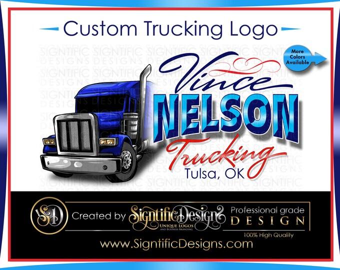 Custom Trucking Logo, Hauling Truck, Company Logo, Semi Truck Logo, Trucking Brand, Truck Door Logo, Truck Driver Logo, Owner Operator Logo