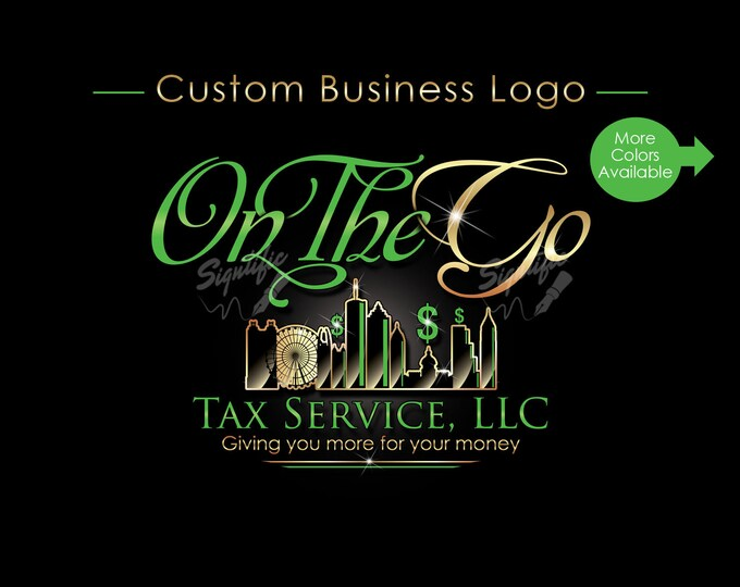 Custom Business Logo, Company Logo, Tax Logo, Logo Design, Logo Custom, Business Branding, Logo, Logo Revamp, Logo Update, Brand Logo Design