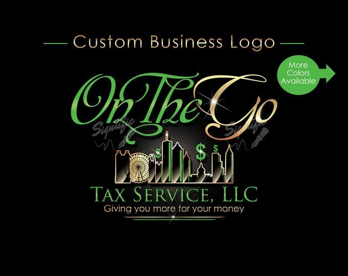 Custom Business Logo, Company Logo, Tax Logo, Logo Design, Logo Custom, Business Branding, Logo, Logo Revamp, Logo Update, Brand Logo Design