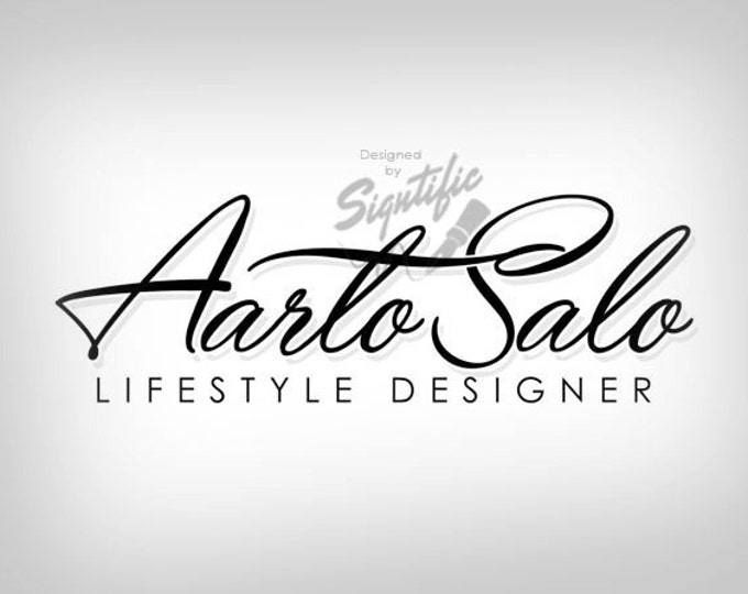 Signature logo plus FREE watermark, name signature design, calligraphy design, name design, fast turnaround logo, affordable logo design