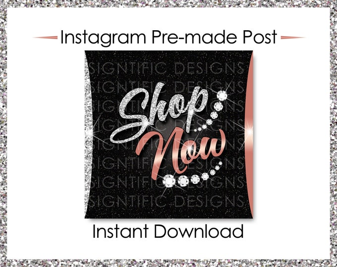 Instant Download, Shop Now, Bundle Flyer, Hair Extensions Flyer, Instagram Post, Instagram Caption, Digital Online Flyer, Silver, Rose Gold