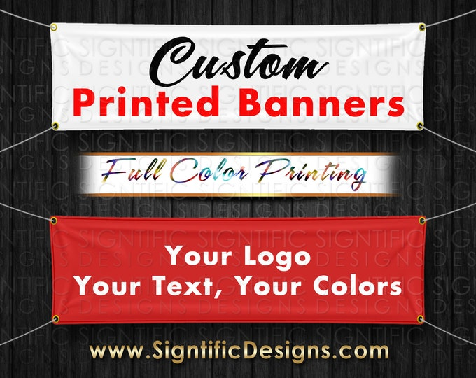 Custom Printed Banner, Outdoor Banner, Indoor Banner, Conference Banner, Church Banner, Business banner, Table Banner, Booth Kiosk Banner
