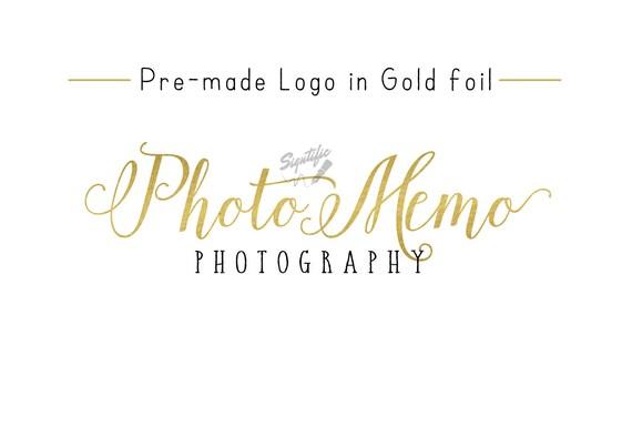 Premade Gold Foil Name Logo, Gold Leaf Logo, Photography Logo, Event Planning Logo, Business Logo, Name Signature Logo, Photographer Logo