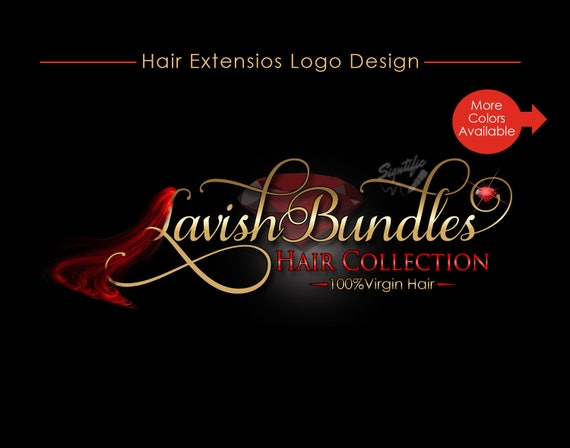 Hair Extensions Logo, Virgin Hair Logo Design, Hair Collection Logo, Hair Bundle Logo, Hair Tag Logo, Hair Strands Logo, Hair Business Logo