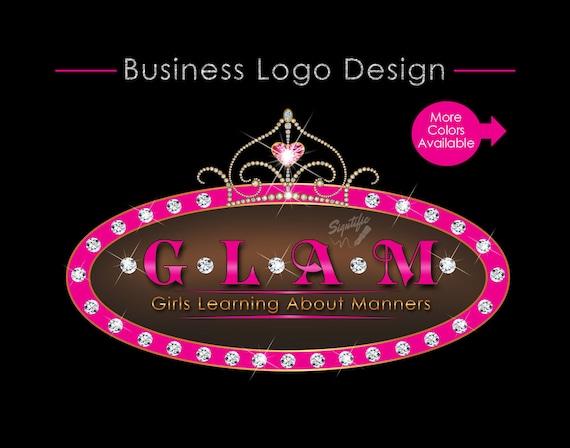Custom logo Design, Tiara Logo, Bling Diamond Logo, Bling Tiara Logo, Logo Design, Design Logo, Oval Logo Diamonds, Bling Crown Logo Design