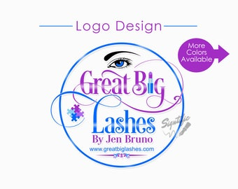 Custom Logo Design, Eyelash Salon Logo, Makeup Logo, Makeup Artistry Logo, Round Logo Design, Lashes Logo, Beauty Salon Logo, Circular Logo