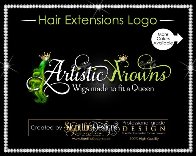 Hair Extensions Logo, Hair Business Logo, Virgin Hair Logo, Hair Logo, Hair Tags Logo, Hair Company Logo, Hair Bundle Logo, Hair Branding