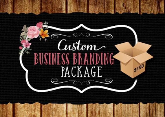 Custom Business Branding Package, Custom Logo Pack, Logo Bundle, Business Start-Up Logo Package, OOAK unique Logo Design Package
