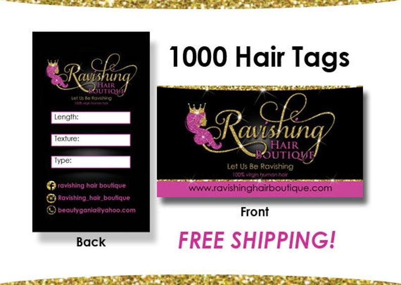 1000 Hair Tags Hair Extension Cards Hair Hang Tags Virgin image 0