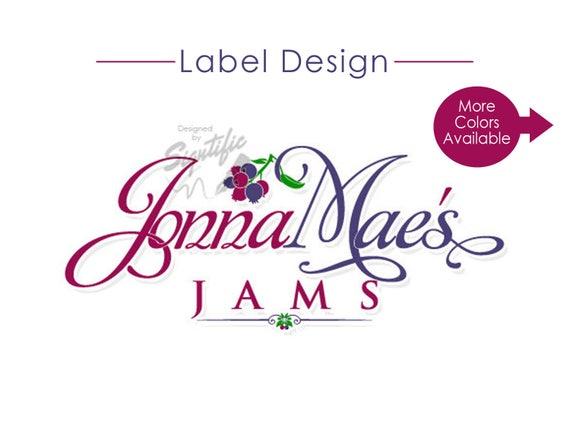 Product Label Design, Jar Label logo, Jam Logo, Food Label Design, Product Logo, Tin Logo, Bottle Label Design, Business Logo, Custom Design