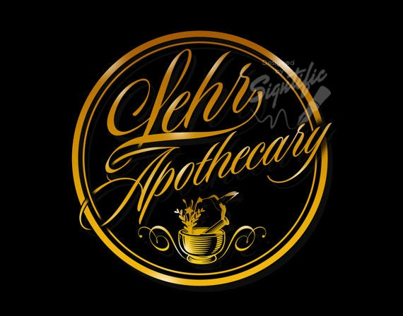 Custom badge logo, gold lab business design, custom gold round logo, signature logo seal, OOAK logo design in any colors, product label