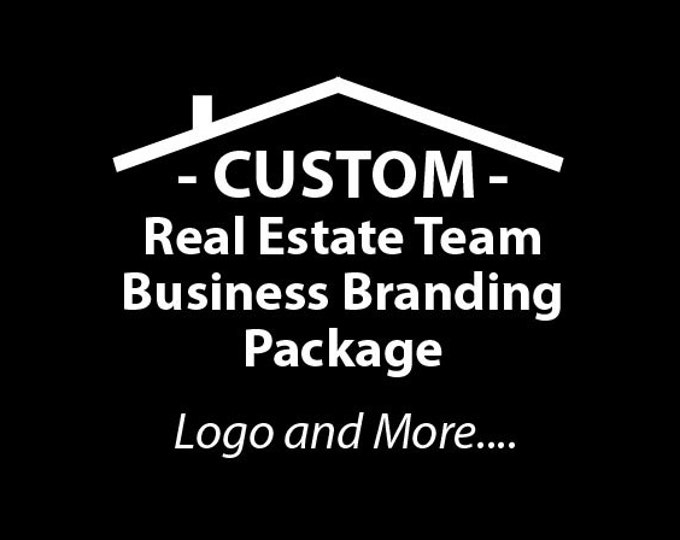 Real Estate Team Business Branding Package, E-mail signatures, Business Card Designs, Website Banner, Logo Initial