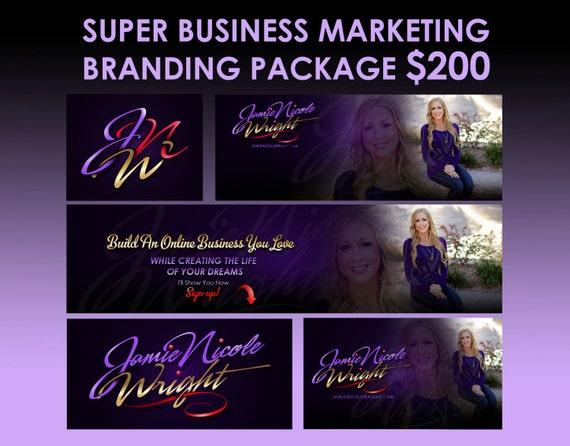 Business start-up promotion design package, business branding package, logo design pack, online branding package, business logo bundle, OOAK