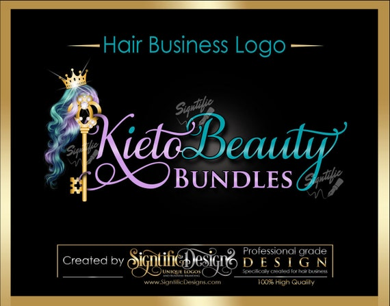 Hair Extensions Logo, Hair Company Logo, Bling Key Logo, Hair Business Logo, Packaging Logo, Bling Logo, Logo for Hair, Hair Company Brand