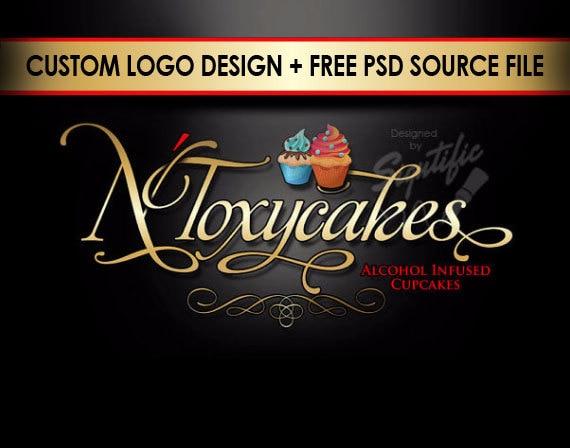 Cup Cake Logo Logo Logo Design Custom Logo Design Logos Etsy