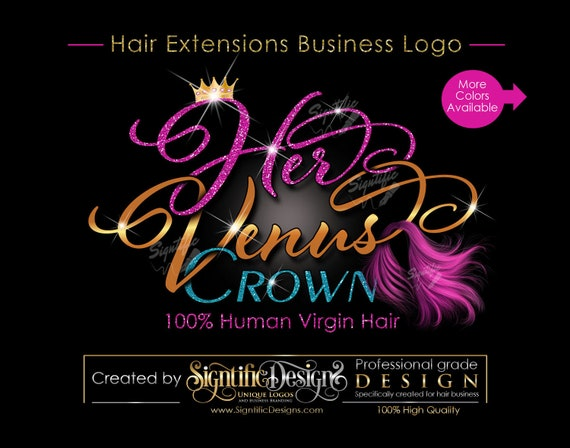 Hair Extensions Logo, Hair Rebranding Logo, Logo Update, Virgin Hair Logo, Design Logo, Hair Bundle Logo, Hair Business Logo, Revamp Logo