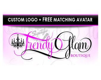 Custom Boutique Logo with FREE avatar, Website Logo Design, Online Business Logo, Clothing Line Logo, Fashion Logo, Couture Logo  Design