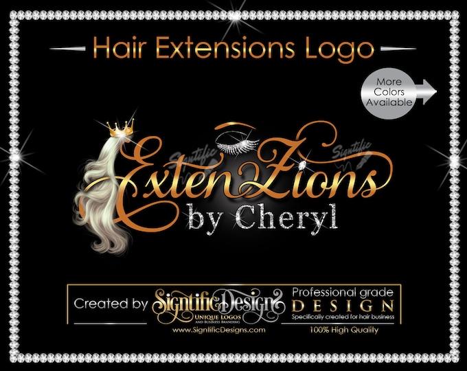 Hair Extensions Logo, Hair and lash logo, Hair Logo, Hair Business Logo, Hair Tags Logo, Hair Company Logo, Hair Bundle Logo, Eyelash Logo