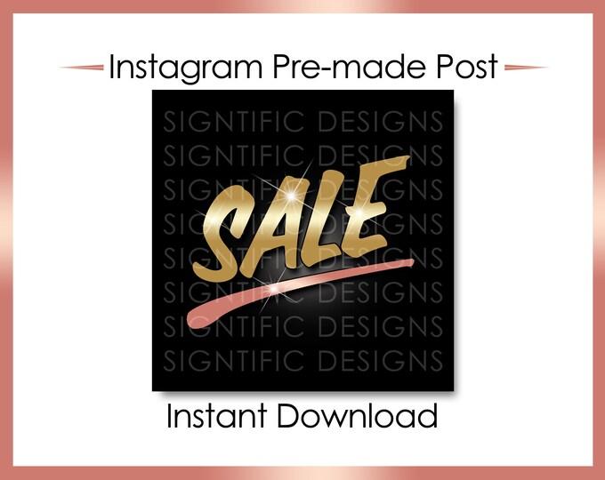 Instant Download, Hair Business Sale, Instagram Post Flyer, Instagram Caption, Digital Online Flyer, Instagram Flyer, Gold Rose Gold Post
