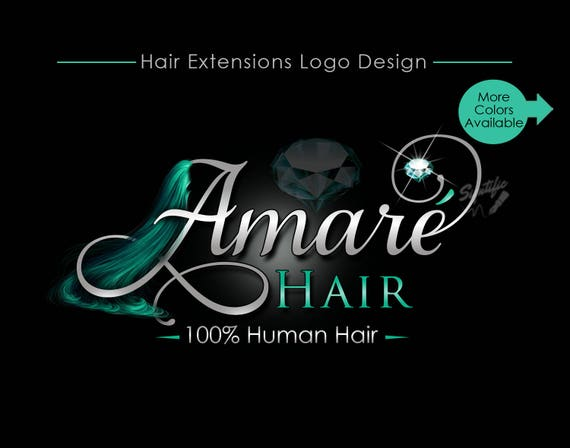 Hair Extensions Logo, Virgin Hair Logo, Hair Collection Logo, Hair Bundle Logo, Hair Branding Logo, Brand, Packaging Logo, Hair Tags Logo