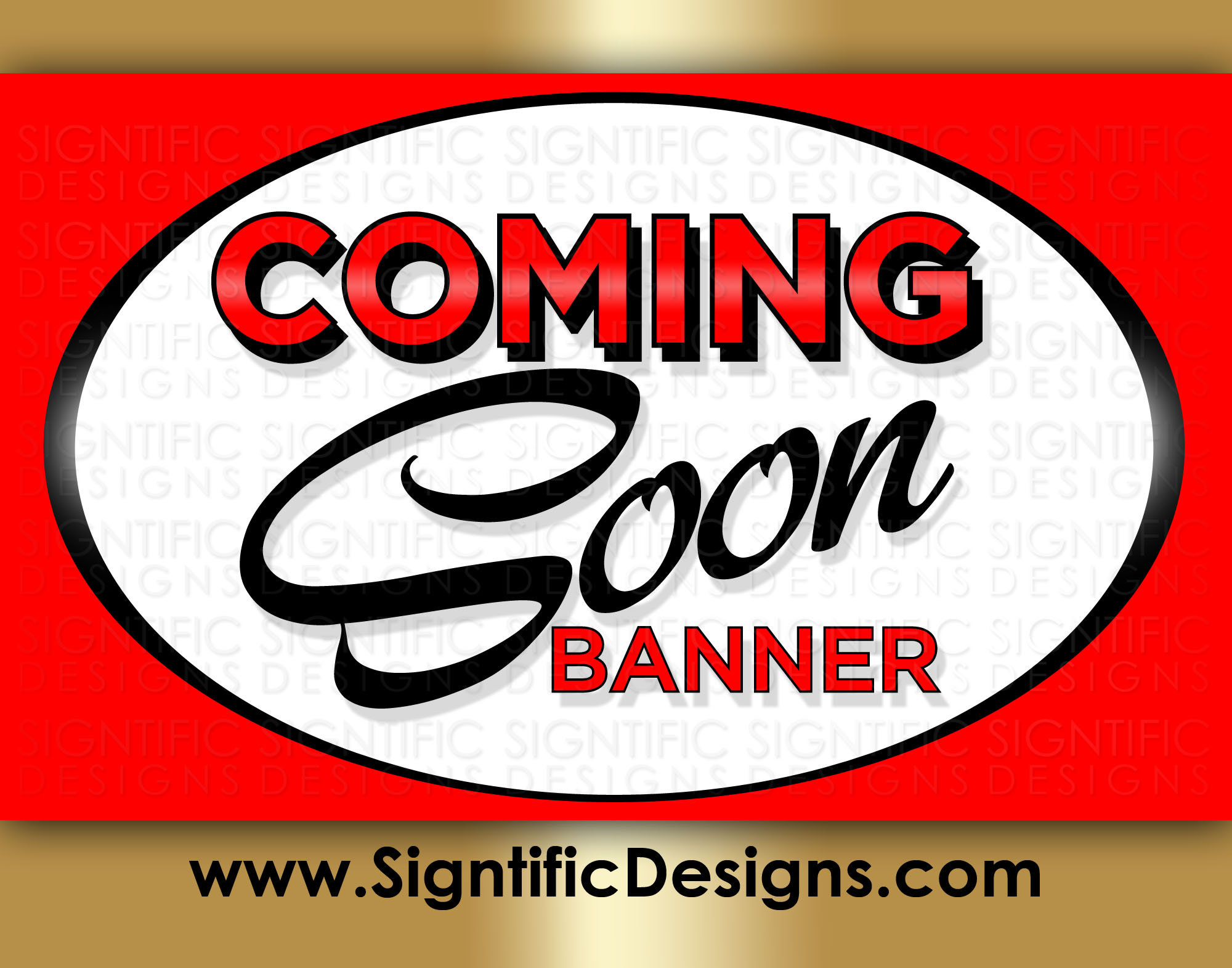 Coming Soon Banner, Full Color Banner, New Business
