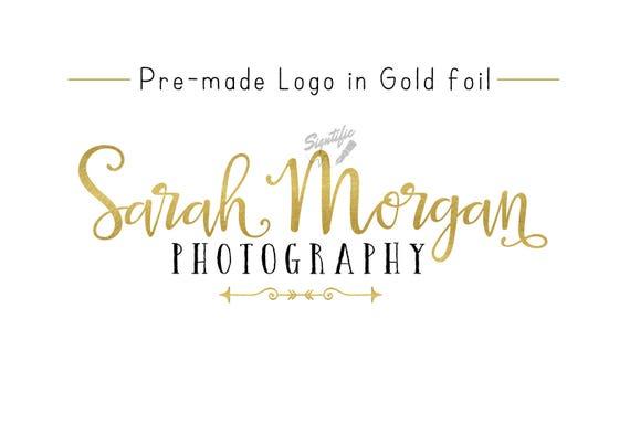 Premade Gold Foil Name Logo, Gold Leaf Logo, Photography Logo, Event Planning Logo, Business Logo, Name Signature Logo, Pre-made Logo Design