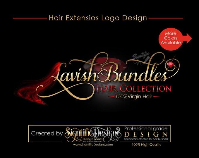 Hair Branding Business Logo, Hair Extension Logo, Hair Collection/Bundles Logo, Hair Logo Design, Hair Tags, Hair Strands Logo Design