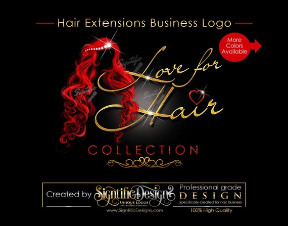 Hair Extensions Logo, Bling Hair Logo, Hair Business Logo, Packaging Logo, Bling Logo, Name Signature Brand, Logo for Hair, Hair Branding