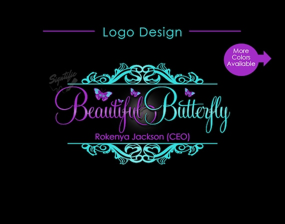Hair Extension Logo, Hair Logo, Butterfly Logo, Hair Business Logo, Vintage Logo, Virgin Hair Logo, Hair Bundle Logo, Branding Logo Design