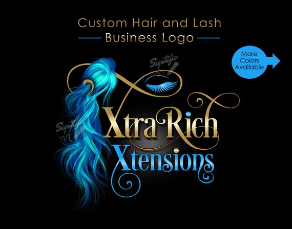 Hair and Lash Logo, Hair Extension Logo, Eyelash Business Logo, Hair Bundle Logo, Hair Business Logo, Hair Branding, Eyelash Brand Design