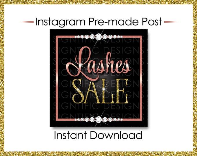 Instant Download, Lashes Sale, Eyelash Extension Flyer, Lashes Flyer, Social Media Flyer, Instagram Post, Lash Business Flyer, IG post
