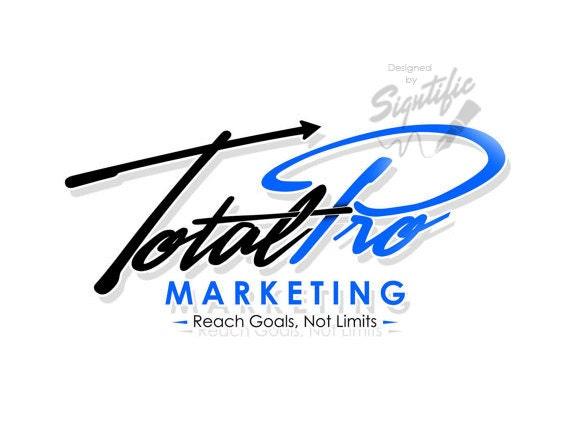 Professional logo design, custom signature logo, black and blue logo, marketing logo, cursive lettering logo, elegant logo, modern logo
