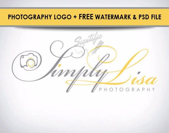 Photography Camera Logo, Free Photoshop Source File and Watermark, Photographer Logo, photo Watermark, Camera Logo design, Name Signature