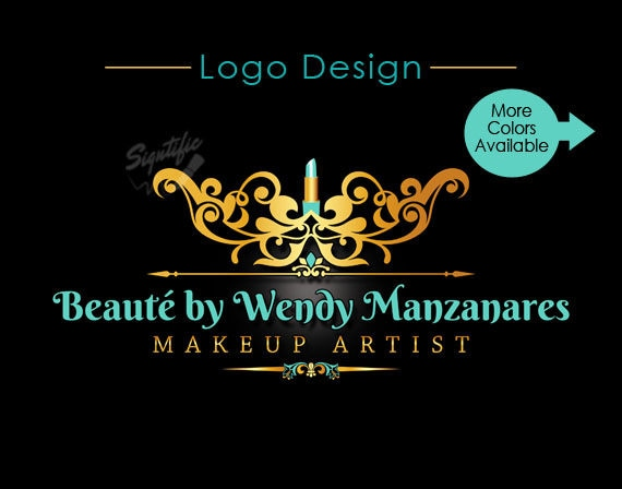 Custom Logo Design, Makeup Artist Logo, Makeup Artistry Logo Design, Beauty Salon Logo, Lipstick Logo, Vintage Logo, Salon Logo Design