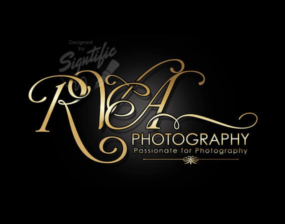 Photography Logo, Custom Photography Logo Design, Creative Gold Logo, Business Name Logo, Photographer Logo, Intertwined Lettering Logo