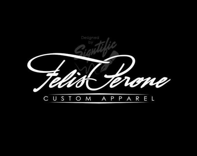T-shirt and Apparel Logo, Custom Name Brand Logo, Name Signature Logo, Business Name Logo, Signature Text Logo, Logo for T-shirt Printing