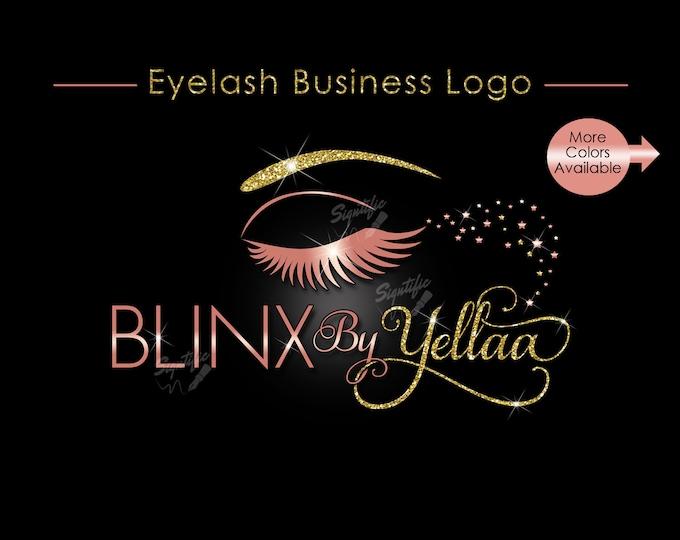Eyelash Business Logo, Eyelash Logo, Eyebrow Logo, Eyelash Extension Logo, Logo Design, Logo for Eyelash, Eyelashes Logo, Glitter Bling Logo