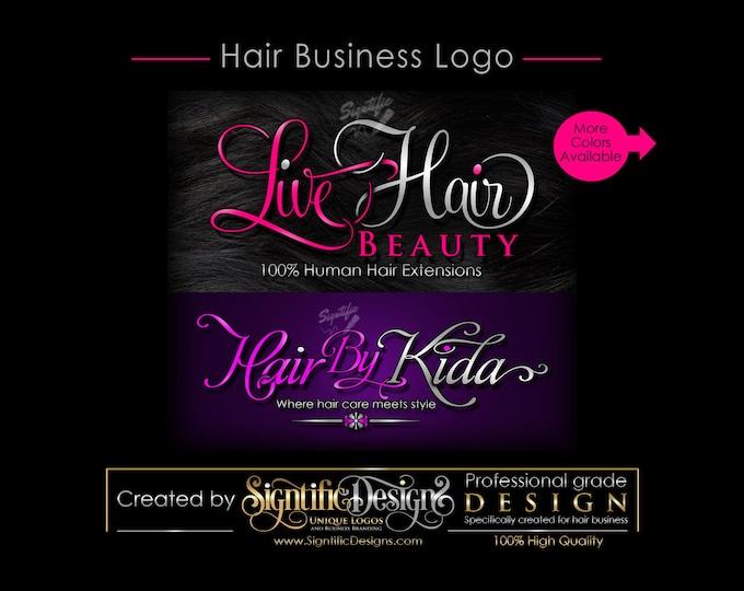 Hair Business Logo, Hair Extensions Logo, Hair Salon Logo, Logo for Hair, Hair Bundle Logo, Logo Custom, Logo for Hair Tags, Logo, Logos