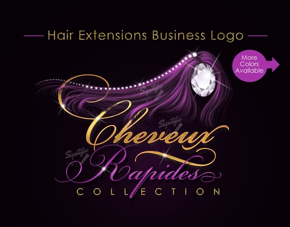 Hair Business Logo, logo for Hair, Hair Extensions Logo, Glitter Hair Logo, Hair Bundle Logo, Hair Branding, Diamond Hair, Bundle Branding
