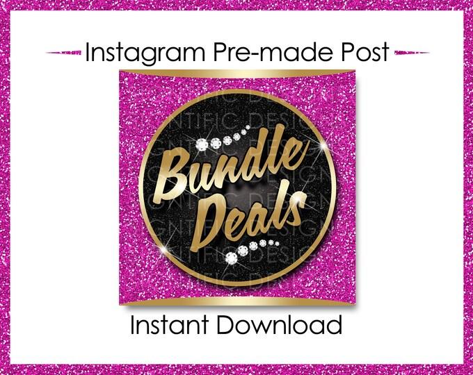 Instant Download, Bundle Deals, Gold and Pink, Hair Extensions Flyer, Instagram Caption, Premade Online Flyer, Instagram Flyer, Hair Flyer