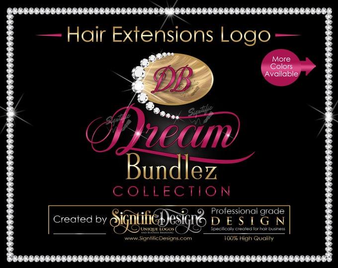 Hair Extensions Logo, Hair Bundle Logo, Diamond Logo, Hair Brand, Hair Business Logo, Logo Revamp, Bundle Logo Creation, Hair Packaging Logo