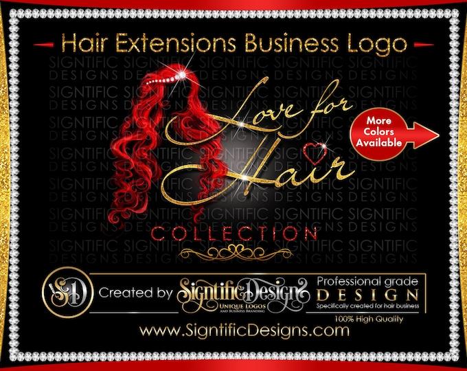 Hair Extensions Logo, Bling Hair Logo, Hair Business Logo, Packaging Logo, Bling Logo, Name Signature Brand, Logo for Hair, Hair Branding